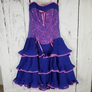 RARE Betsey Johnson Corset Ruffle Bustier Dress 4